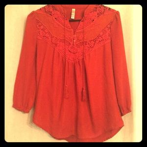 Xhilaration burnt orange bell sleeve